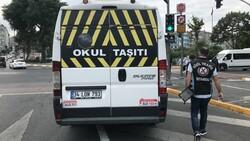 İstanbul'da trafik ekiplerinden okul servislerine denetim