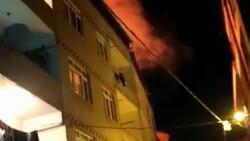 İstanbul'da tinerciler binanın çatısını yaktı