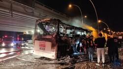 Ankara'da yolcu otobüse alevlere teslim oldu: 1 ölü, 20 yaralı