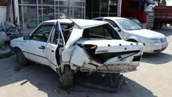 Amasya'da seyir halindeyken uyuyan sürücü kaza yaptı