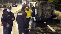 Nevşehir'de yaralı taşıyan ambulans otomobil ile çarpıştı
