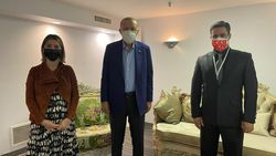 Cumhurbaşkanı Erdoğan, ABD'de yaşayan Trabzonlu çifti kabul etti
