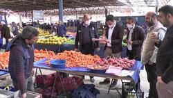 Kütahya'daki semt pazarlarında fahiş fiyat denetimi yapıldı