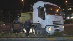 İstanbul'da İETT otobüsü, hafriyat aracına çarptı