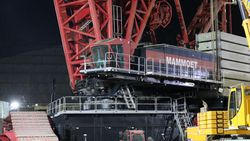 Akkuyu NGS'de dünyanın en güçlü inşaat vinçlerinden biri daha devreye