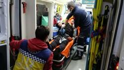 Samsun'da saldırıya uğrayan adamın yakını sağlıkçılara tepki gösterdi