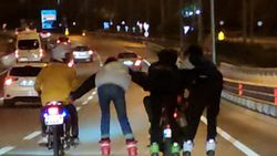 Antalya'da patenli gençler tehlikeye davetiye çıkardı