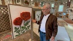 Muğla'da, pandemide 600 bin toplu iğneyle 10 tablo yaptı
