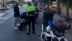 Antalya'da kask takmayan 380 sürücüye 215 bin lira ceza