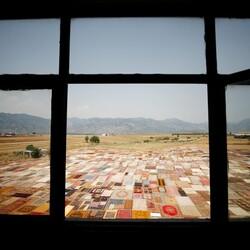 Antalya'da eski halılar tarlada bekleyip alıcıya çıkıyor