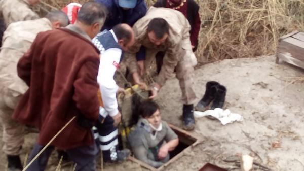 10 metrelik kuyuya düşen kadın kurtarıldı