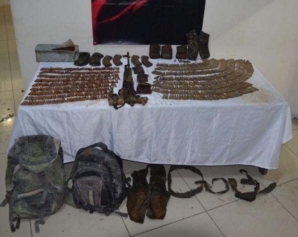 Van'da teröristin gömdüğü mühimmat çürümüş halde bulundu