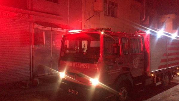 Yangında, iş yerinde mahsur kalan Suriyeli kurtarıldı
