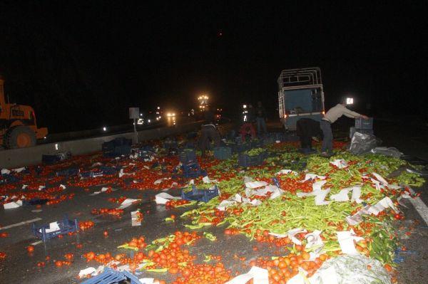 Muğla'da tonlarca domates ve sebze yola saçıldı