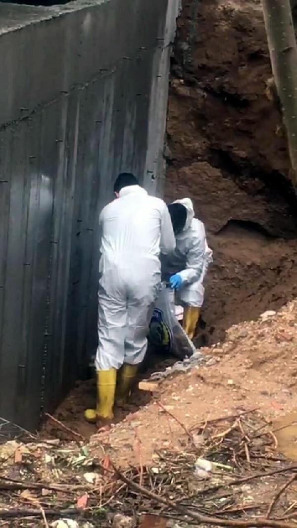 Aydın'da inşaat kazı alanında insan kemikleri bulundu