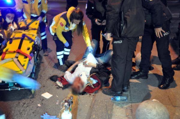 İntihar etmek isteyen adam minibüsün üstüne düştü
