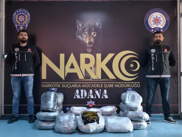 Adana'da 150 kilo esrar ele geçirildi