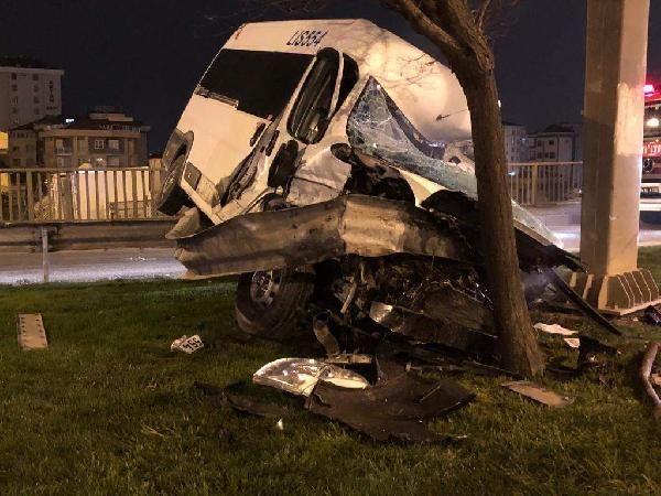 D 100 karayolunda trafik kazası: 1 ağır yaralı