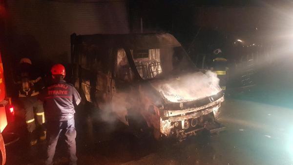 Parlayan motor yağı yangın çıkardı