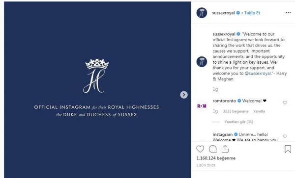 Prens Harry ve Meghan'ın Instagram hesabı rekor kırdı