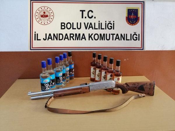 Bolu'da uyuşturucu silah ve kaçak içki operasyonu