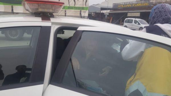 Yaralanan Suriyeli sürücü kaçtı polis yakaladı