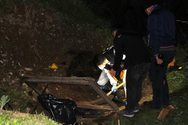 Tokat'ta çay kenarında yanmış insan kemikleri bulundu