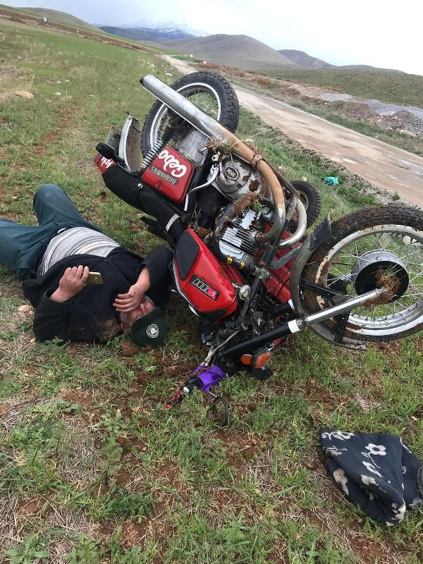 Kahramanmaraş'ta bir motosiklet sürücüsü kaza yaptı