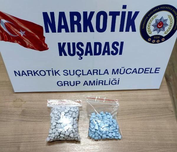 Aydın otobüsünde 473 uyuşturucu hapla yakalandı