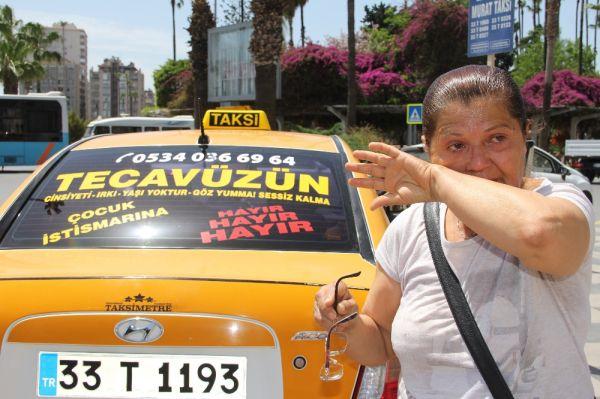 Mersin'de taksicinin duyarlılığı görenleri ağlattı