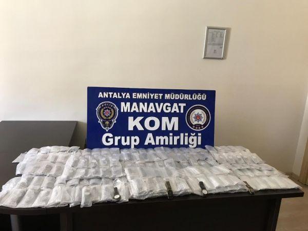 Antalya'da 304 kaçak kol saati ele geçirildi