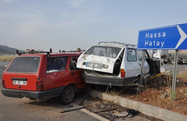 Gaziantep'te iki otomobil çarpıştı