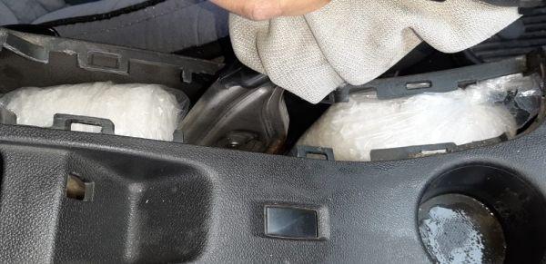 Kırşehir'de otomobilin fren kutusundan uyuşturucu çıktı