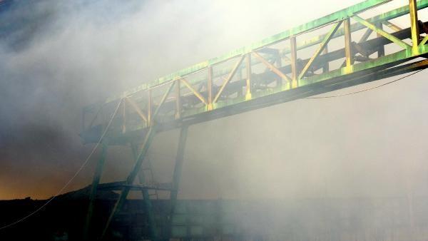 Zeytinyağı tesisinde yangın