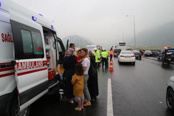 Düzce'de zincirleme kaza: 8 yaralı