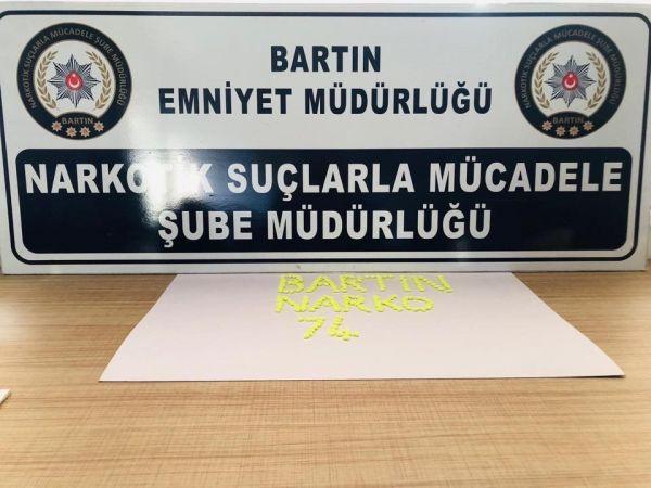 Bartın'da uyuşturucu operasyonu: 1 tutuklu