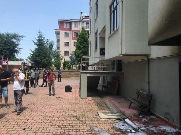 Bartın'da apartmanda yangın: 2'si çocuk 9 kişi hastanelik oldu