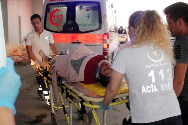 Karaman'da hamile eşini hastaneye götürürken kaza yaptı