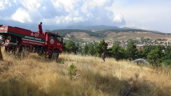 Hatay'da orman yangını: 5 hektar yandı