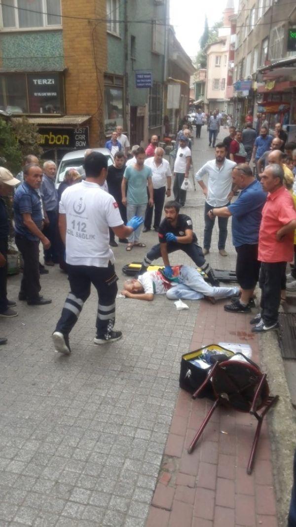 Bursa'da kahve içerken bıçaklandı