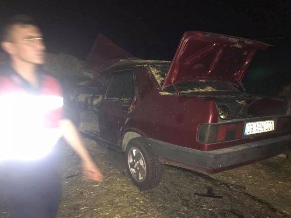 Yenipazar'da trafik kazası: 1 yaralı