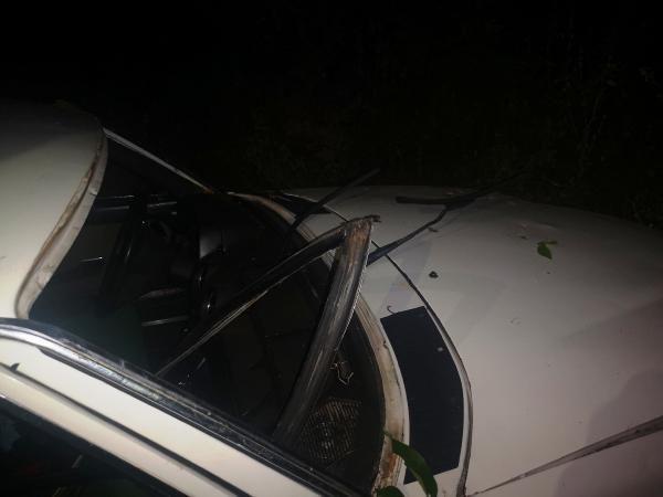 Malatya'da kaza yapan otomobil devrildi