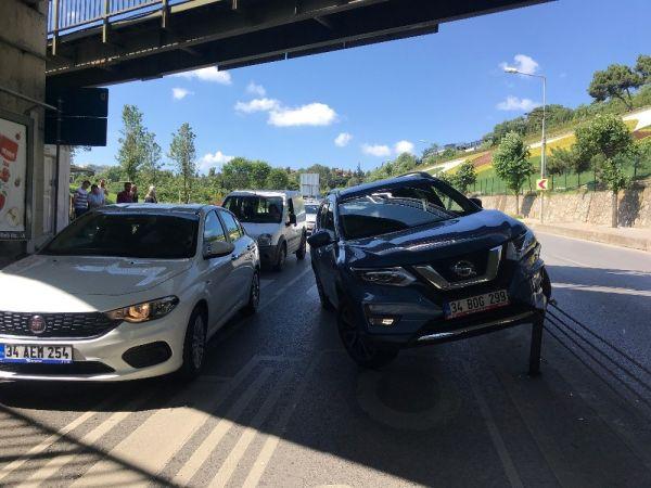 15 Temmuz Şehitler Köprüsü bağlantı yolunda kaza