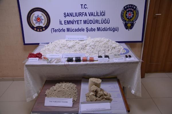 Şanlıurfa'da 44 kilo patlayıcı ele geçirildi