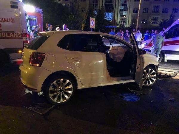 Karı-kocanın yarışı zincirleme kaza ile son buldu