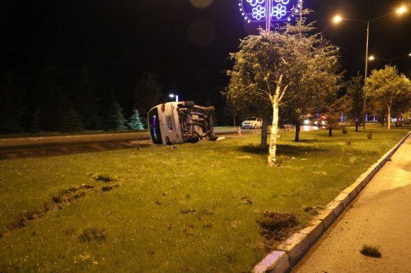 Erzurumda alkollü sürücü dehşet saçtı
