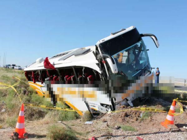 Aksaray'da otobüs kazasında yaralı sayısı 44 oldu