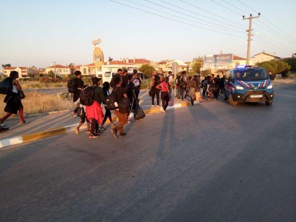 Ayvalık'ta 50 Afrikalı mülteci yakalandı