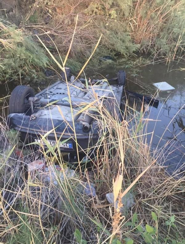 Kanala düşen otomobilde 25 saat kurtarılmayı bekledi