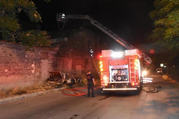 İzmir'de tarihi fabrikada yangın